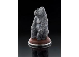 Серебрянная статуэтка Горилла