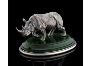 Серебрянная статуэтка Носорог